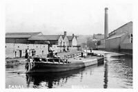 pt5495 - Barge on the Rodley Canal , Yorkshire - photograph 6x4