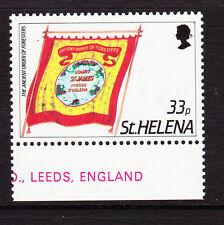 Santa Helena 1985 33p pancartas con Wmk Corona a izquierda de ca Sg 476w Mnh.