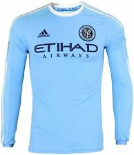 Adidas MLS Men's New York City FC 2016 Authentic Long Sleeve Home Jersey