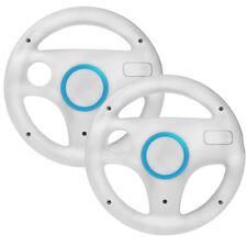 2x Lenkrad Wheel für Nintendo WII und Wii U Mario Kart weiß
