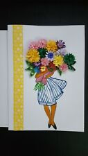 Handmade Paper Quilling Greeting Cards-Happy Birthday, Good luck, Best wishers