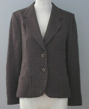 ALPINIT Size 10 Gray 100% Wool Fully Lined Blazer (Made in Switzerland)
