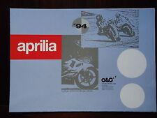 Poster APRILIA Trial Climber 280 R 1994 Brochure Prospetto Pegaso SR 50 Extrema