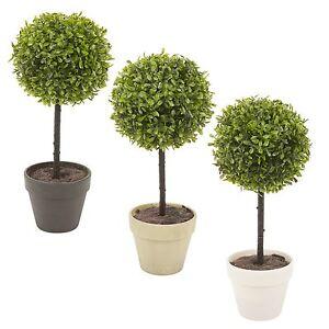 2x Potted Buxus Box Ball Plant Decorative Artificial Indoor Outdoor Garden Pot
