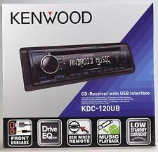 Kenwood KDC-120UB NEU-OPV, CD-Tuner,AUX,USB,1DIN-Gerät,Blau