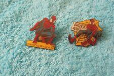 SPIDERMAN Marvel Comics two Novelty pin badges