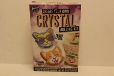 Kids/Childs Arts Crafts Kits Create Your Own Crystal Mold Cat Corgi Sloth New 6+