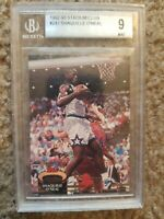1992-93 Stadium Club Shaquille O'Neal Rookie Card #247 BGS 9 Mint