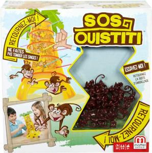 Mattel Games SOS Ouistiti, Jeu de Société et d'Adresse pour Enfants,...