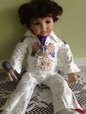 Elvis Doll New In Satin Jump Suit Complete With Microphone 20 In. Long