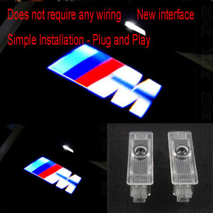 2Pcs LED M Logo Door Courtesy Laser Projector Light For BMW E93 E90 E92 M3 M5 M6