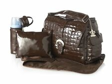 Nwt Kalencom Monique Buckle Diaper Bag w/ Changing Pad Bottle Holder - Chocolate
