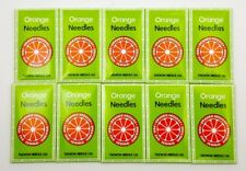 100 - SINGER, KENMORE SEWING MACHINE NEEDLES ORANGE 15X1 #14/90