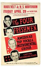 The FOUR FRESHMEN Jazz-Oriented Singing Group 1960 CONCERT Boxing Style POSTER