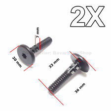 2X  Lower Side Sill Rivet, Rocker Trim Panel Retainer for BMW