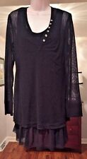 NWT Zoe by Michael Phillips Women's Spring Black Tunic Dress size M New!