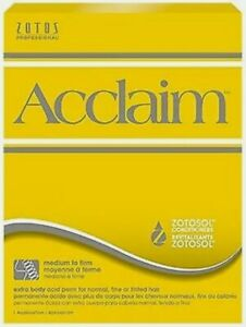 Zotos Acclaim Perm Lotion Yellow Box Extra Body Firm Perming Lotion Curl Hair