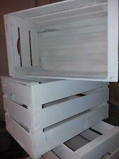 Set 3 cassette frutta nuove in legno finitura BIANCO PASTELLO 50x30x27 2kg