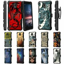 For Nokia 3.1 C / Nokia 3.1 A / Rugged Armor Hybrid Holster Belt Clip Case