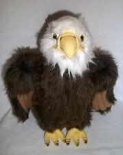 "GUND 13"" Plush MORNING GLORY Bald Eagle 12033 USA Brown Stuffed Animal Lg Toy"