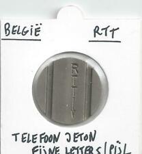 BELGIE TEST TELEFOON JETON RTT MET FIJNE LETTERS/PIJL   RARE