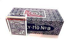TALLY HO #9 Playing Cards 12 Decks Circle Back Original