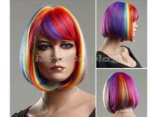 Female Wig Mannequin Head Hair Short Wig #WG-ZL1028-RAINBOW
