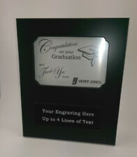 Team Photo, Graduation Award Plaque 8 x 9.5 With Picture Frame. Free Engraving
