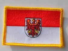 AUFNÄHER PATCH 0267 AUFBÜGLER BRANDENBURG FAHNE FLAGGE SAMMLER NEU