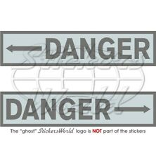 DANGER Arrow Helicopter Tail Rotor LowVis USAF NATO RAF 100mm Stickers Decals x2