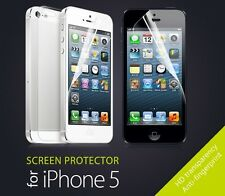 3X HD INVISIBLE Apple IPhone 5 / 5s Ultra Clear Screen Protectors and Cloth