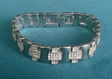 """SILVER BRACELET 7"""" 925 SOLID VERY HEAVY STERLING ROTARY"""