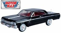 Chevrolet Impala, 1964 - Black, Classic Metal Model Car, Motormax 1/24