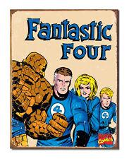 Marvel Comics A3 Retro Tin Metal Sign FANTASTIC FOUR 41x32cm Aged look Licensed