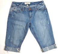 AEROPOSTALE Women's Jean Shorts Sz 9/10 Blue Distressed Denim