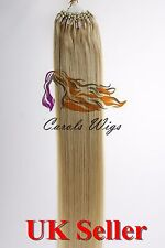 "20"" 1g Double Drawn Loop Micro Ring Russian Slavic Remy Human Hair Extensions 7A"