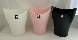 LOT of 3 Umbra Garbino -Karim Rashid Wastebasket, 2.5 Gal, Black/Pink/White