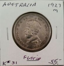 1927 Australia One Florin (Silver)
