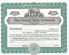 The Central Bank Company > Lorain Ohio stock certificate
