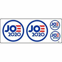 Joe Biden JOE 2020 For President Set Of 4 Vinyl Stickers Decal Sheet