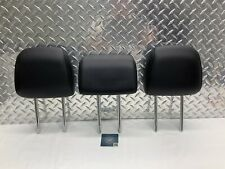 2015-2017 FORD EDGE REAR SEAT 2ND ROW HEADREST SET HEAD RESTS BLACK LEATHER OEM