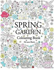 Spring Garden Flowers Adult Colouring Book Relaxing Therapy Patterns