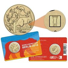 2016 World Money Fair WMF Berlin $1 Coin - Buddy Bear Privy Mark