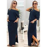 Summer Women Off Shoulder Party Dress Evening Maxi Long Beach Dresses JJ