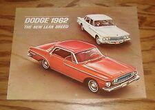 Original 1962 Dodge Dart & Lancer Calendar Sales Brochure 62