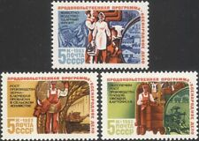Russia 1983 Farming/Cattle/Tractor/Apples/Wheat/Crops/Fruit/Food 3v set (n17865)