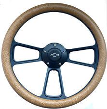 "1960 -1969 Chevy C10 C20 C30 Truck 14"" Tan Snakeskin & Black Steering Wheel Kit"