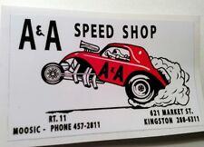 A & A speed shop sticker decal hot rod rat rod vintage look drag race