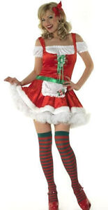 LADIES 2pcs JOLLY HOLIDAYS COSTUME DRESS UP OUTFIT BY CLASSIFIED ASSORTED SIZES