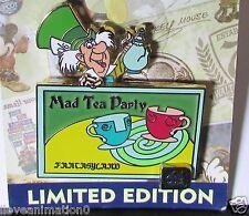 Disney WDW 40th Alice Anniversary of Walt Disney World Mad Tea Party Pin**